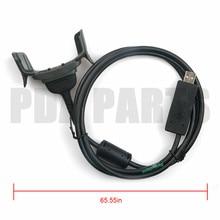 USB Comm & טעינת כבל עבור מוטורולה סמל MC75 MC7506 MC7596 MC75A0 Mc75A8 MC75A6 (תואם עם 25 70981 01R & #65289)