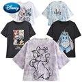 Disney Mickey Minnie Maus Donald Duck Schnee Weiß und die Sieben Zwerge Prinzessin Cartoon Druck Frauen T-Shirt Kurzarm T top