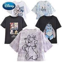 Disney Mickey Minnie Mouse Pato Donald Blanca Nieves y los siete enanitos princesa de dibujos animados mujer camiseta manga corta Camiseta Tee Top