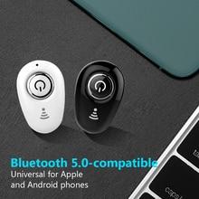 Mini singoli auricolari Bluetooth compatibili auricolari Wireless In vivavoce con microfono auricolare sportivo Stereo per tutti gli smartphone
