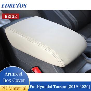 Auto konsola środkowa Pad PU skóra podłokietnik samochdoowy Seat pokrywa skrzynki Protector pasujące do Hyundai Tucson 2019 2020 tanie i dobre opinie CN (pochodzenie) Car Armrest Box Cover Microfibrillar Leather Black Black with Red Thread Beige Grey For Hyundai Tucson 2019 2020