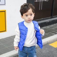 Toddler Kids vest Baby Grils Boys Solid Striped Vest Warm Waistcoat Outwear Coat 2019 Autumn Winter clothes colete infantil(China)
