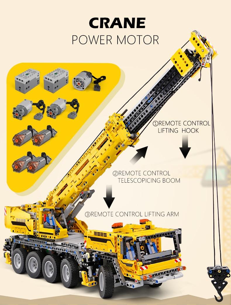 MOULD KING  Technic Motor Power Mobile Crane Mk II Building Block 6