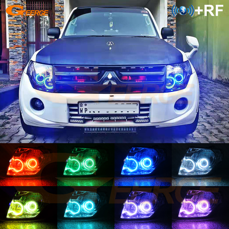 Pour Mitsubishi pajero 2006 2007 2008 2009 2010 2012 2013 2014 2015 2016 RF Bluetooth APP multicolore RGB led angel eyes kit