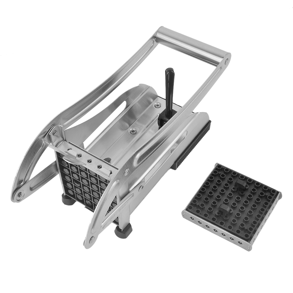 Stainless Steel Home French Fries Potato Chips Strip Cutting Cutter Machine Maker Slicer Chopper Dicer With Blades Household