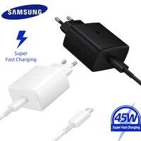 Cargador superrápido de 45W para Samsung S20, Cable adaptable de carga rápida Pd tipo C a tipo C para Galaxy S10 Note 10 9 8 A51 A70 A50