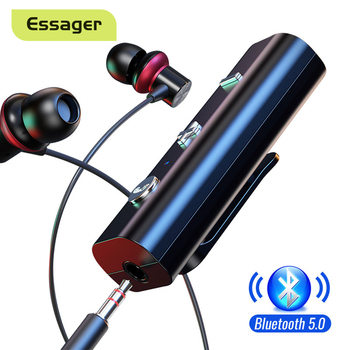 Essager Wireless Adapter Bluetooth 5.0 Receiver For 3.5mm Jack Earphone Bluetooth Aux Audio Music Transmitter For Headphone 1