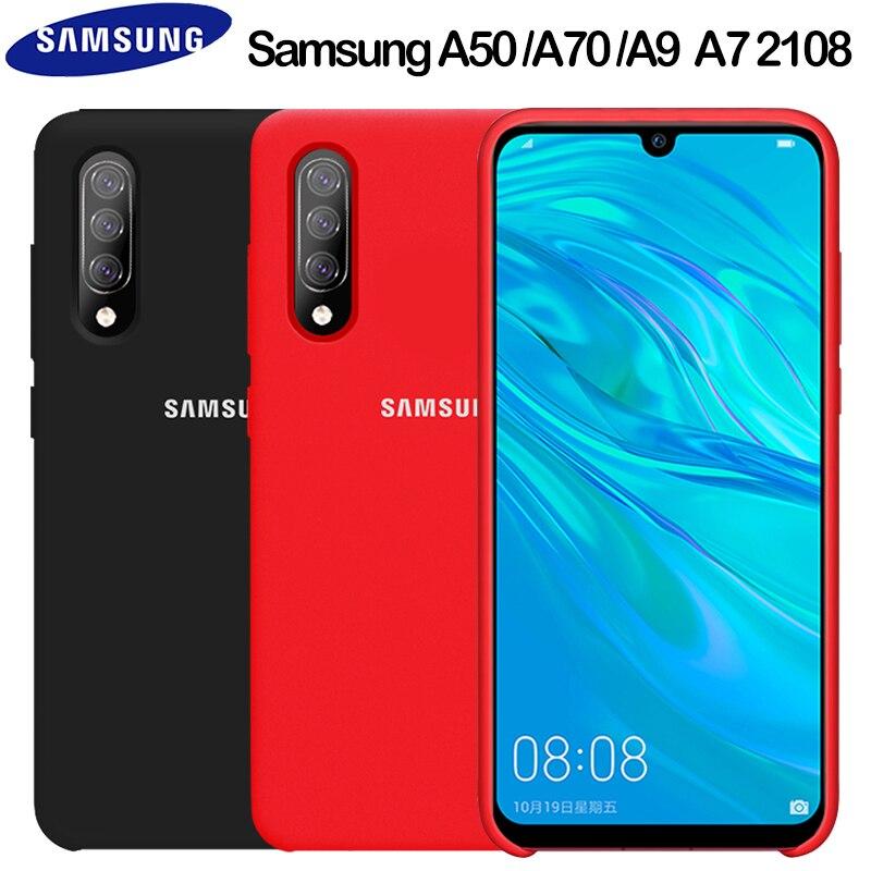 Samsung A50 Case Original Liquid Silicone Soft Protection Back Cover Samsung Galaxy A70 A50 A30 A10 A8 A6 Plus A9 A7 2018 Case
