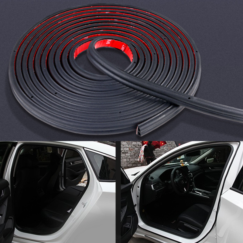 Car Door Seal Strips Sticker B Shape Weatherstrip Rubber Seals for Land Rover LR4 LR2 Evoque discovery 2 3 <font><b>4</b></font> freelander <font><b>1</b></font> 2 image