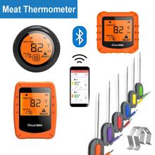 Bezprzewodowy termometr do mięs Bluetooth piekarnik kuchenny Grill Grill Grill termometr do gotowania żywności z App 6 sond tanie tanio CN (pochodzenie) Piekarnik termometry Gospodarstw domowych termometry Z tworzywa sztucznego Cyfrowy Wireless Bluetooth