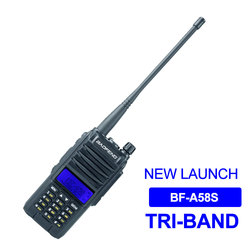 New Baofeng Walkie Talkie BF-A58S 5W Tri Band 136-174MHz 200-260MHz 400-480MHz Handheld Radio Station 2200mAh Amateur Radio