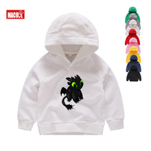 Kids Winter Hoodies Boys Girls Sweatshirts Children Toothless The Night Fury  Print Funny Casual Baby Clothes