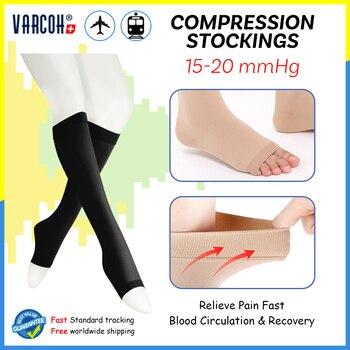 Compression Socks Men Women 15-20 mmHg Medical Graduated Stockings Best for Edema,Diabetic,Varicose Veins,Shin Splints,Running 1