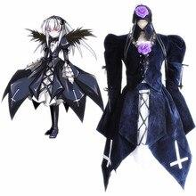 Anime Rozen Maiden Cosplay Costumes Suigintou Costume Lolita Dresses Halloween Party Mercury Lampe