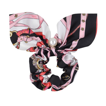 New Chiffon Bowknot Elastic Hair Bands For Women Girls Solid Color Scrunchies Headband Hair Ties Ponytail Holder Hair Accessorie 34