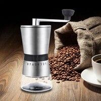 Manuelle Kaffeemühle  Keramik Grat Mühle mit Einstellbare Einstellung  Tragbare Handkurbel Kaffeemühle für Reise  sanduhr  Beste-in Kaffee-und Espressomaschinen aus Haushaltsgeräte bei