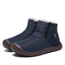 Cork nuevos hombres zapatos de senderismo invierno nieve bota invierno cálido piel nieve zapatillas Unisex al aire libre Botas Hombre tobillo zapatillas gimnasio Slip Ons