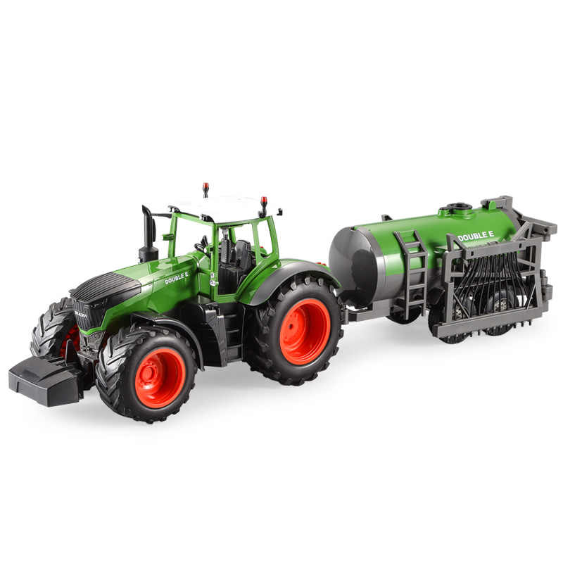 RC Truck Farm Tractor 2.4G Remote Control Water Truck/Rake 1:16 High Simulation Large Construction Vehicle Children Toys Hobby