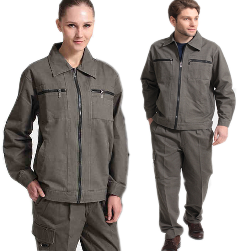 100%Cotton Working Coveralls Men Women Electronic Worker Welding Suit Clothes Set Labor Mechanical Works Auto Repair Uniforms