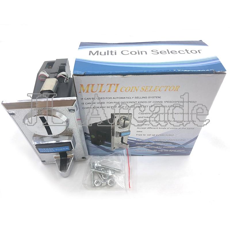Receptor de monedas múltiple, mecanismo electrónico enrollable, CPU programable, 6 tipos, máquina de lavado, precio de fábrica