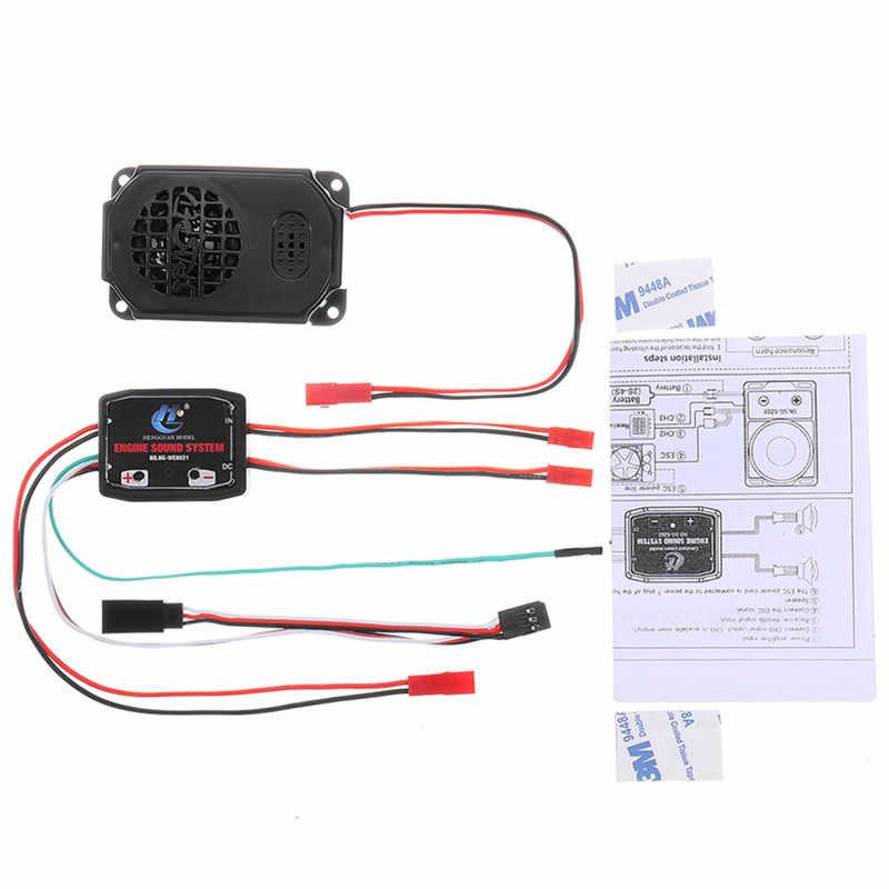 HG P408 1/10 プラスチックと金属エンジン音システム + ホーンスピーカー Rc カースペアパーツ HG-RX1017