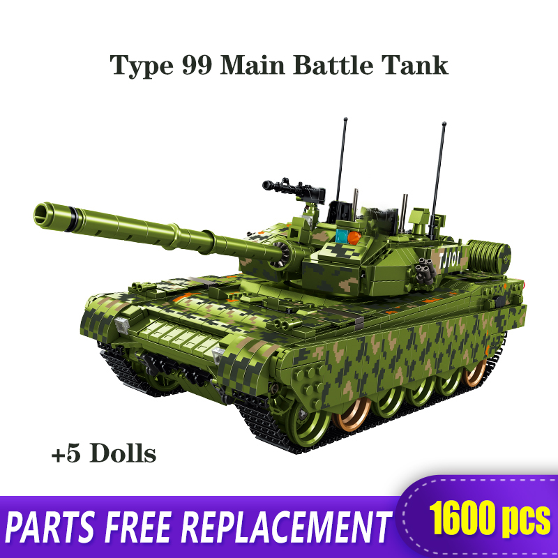 Technic Military Model WW2 The Type 99 Main Battle Tank Building Blocks Toys Bricks With Figure Children Birthday Gifts