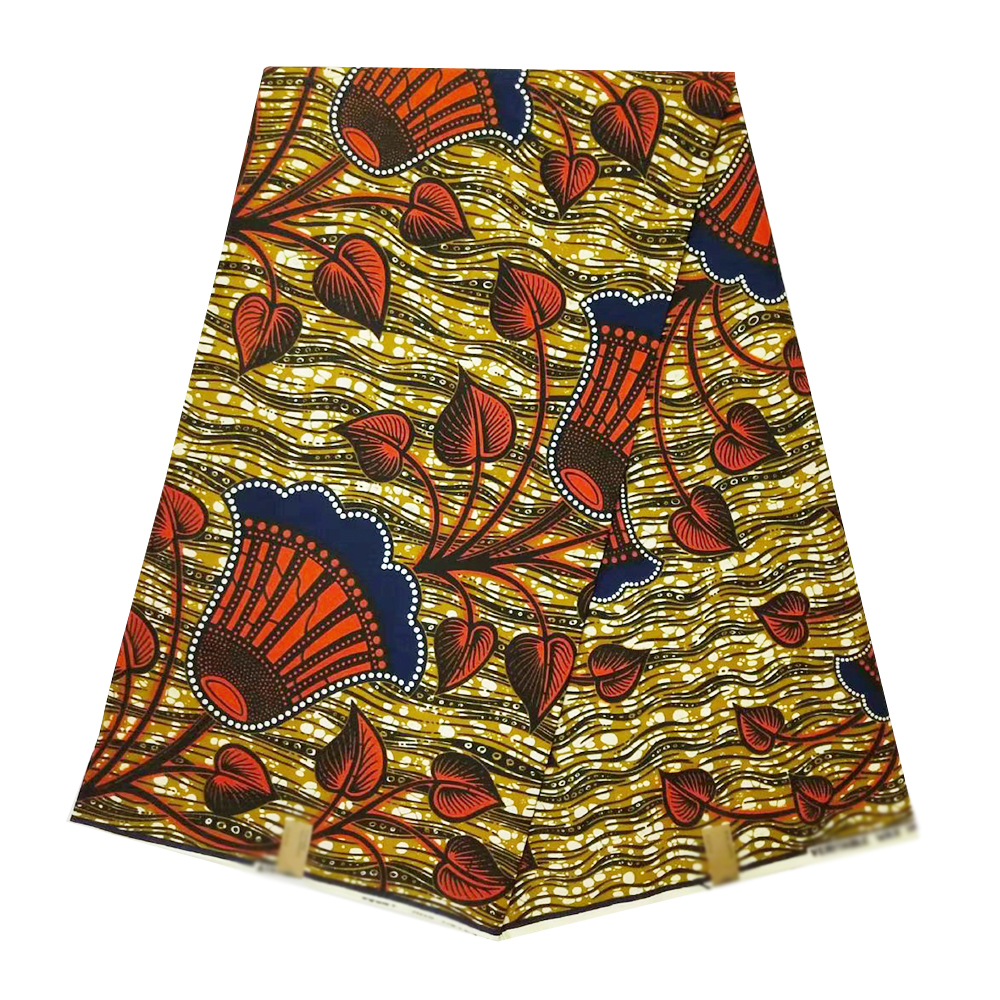 High Quality 100% Cotton Veritable Real Dutch Wax Fabric Ankara Nigerian Ghana African Wax Beautiful Fabrics For Dress