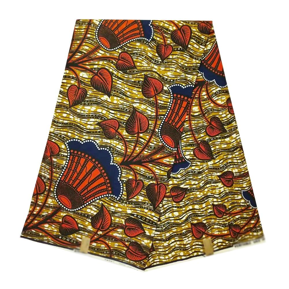 High Quality 100% Cotton Veritable Real Dutch Wax Fabric Ankara Nigerian Ghana African Wax Beautiful Fabrics For Dress