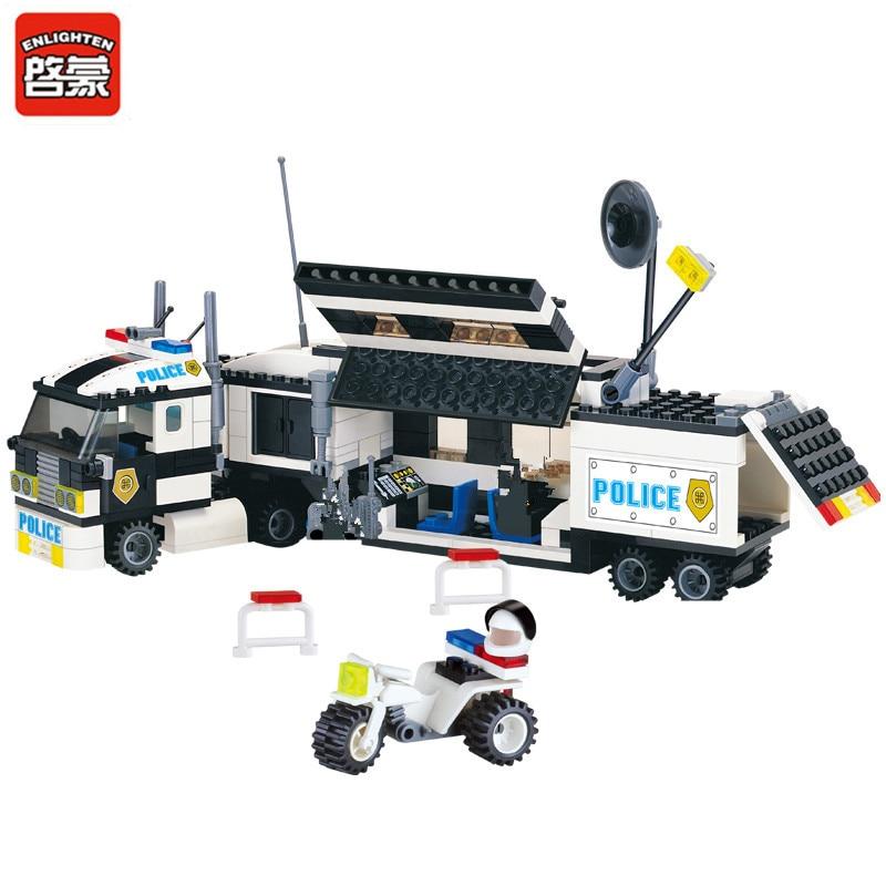 ENLIGHTEN 325Pcs City Police Truck Car Building Blocks Sets LegoINGLs SWAT DIY Bricks Playmobil Educational Toys For Children