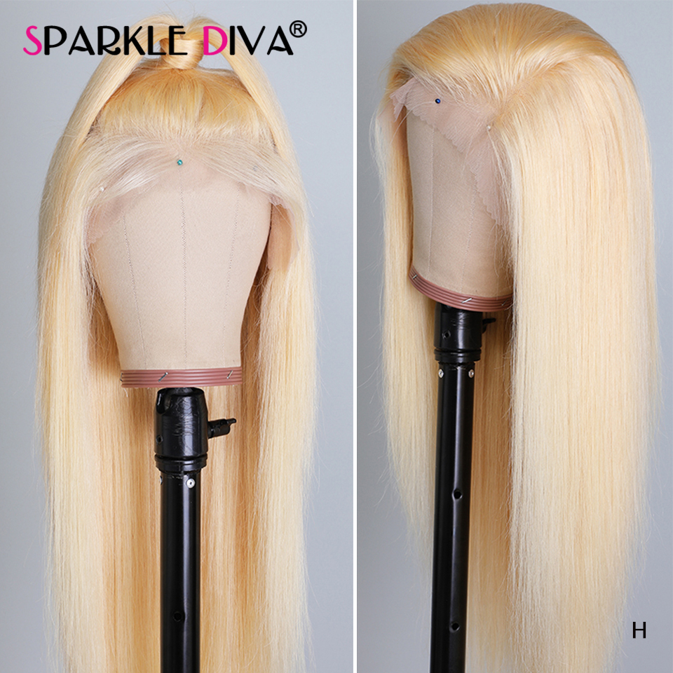 613 Blonde Lace Front Human Hair Wigs 13x6 Deep Part Brazilian Straight Human Hair Wigs 150% Remy Honey Blonde Lace Front Wig