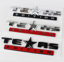 1pcs 3D ABS TEXAS emblem car stickers Badge car styling for Jeep Renegade Compass Patriot Cherokee Wrangler Grand Cherokee taiyao car styling sport car sticker for jeep commander renegade compass patriot cherokee grand cherokee car styling