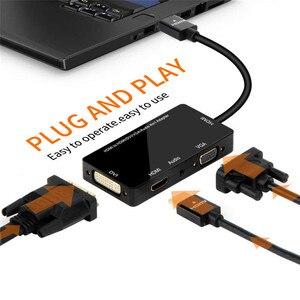 Image 3 - HDMI Adapter HDMI to VGA DVI HDMI Synchronous Display 1080P 4 in 1 Video Audio HDMI Converter
