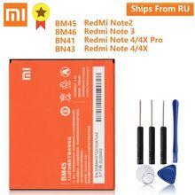 XiaoMi Batería de repuesto Original BM45 BM46 BN41 BN43 para Xiaomi Redmi Note 2, Redmi Note 3 Pro, 4X