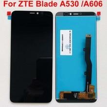 100% Originele 5.45 Volledige Lcd scherm + Touch Screen Digitizer Vergadering Voor Zte Blade A530 / Blade A606 Zwart; nieuwe; 100% Getest