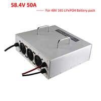 Cargador LiFePO4 de 3000W, 48V, 50A, 58,4 V, 50A, usado para baterías de 51,2 voltios, 16S, LFP, para carretilla elevadora, cargador de carrito de golf