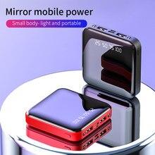 FLOVEME 20000mAh Portable Mini Power Bank Dual USB Mirror Digital Powerbank External