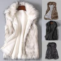 Пальто-кардиган, зимнее пальто для женщин 2019Top, женский шерстяной жилет из искусственного меха, жилет со стоячим воротником, пальто из искус...
