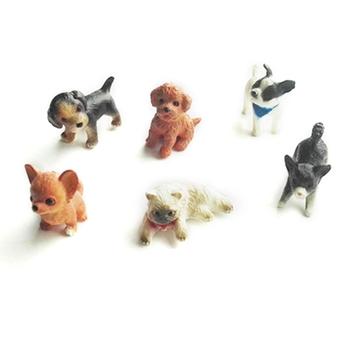 6 sztuk 1 12 kot i pies domek dla lalek miniaturowy Model dom dla lalek dom Moss dekoracje tanie i dobre opinie SRWRGTE CN (pochodzenie) No biting F42E7HH900799 2-4 lat Zwierzęta i Natura Z tworzywa sztucznego