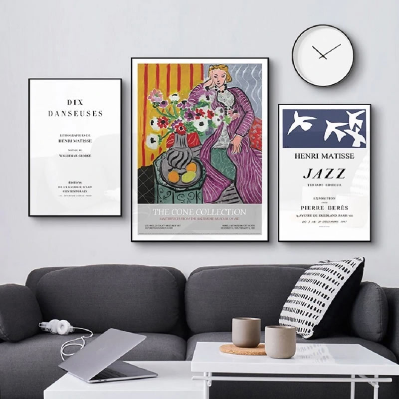 Matisse Fashion Retro Posters And Prints Abstract Portrait Wall Art Canvas Painting Pictures For Living Room Home Decor