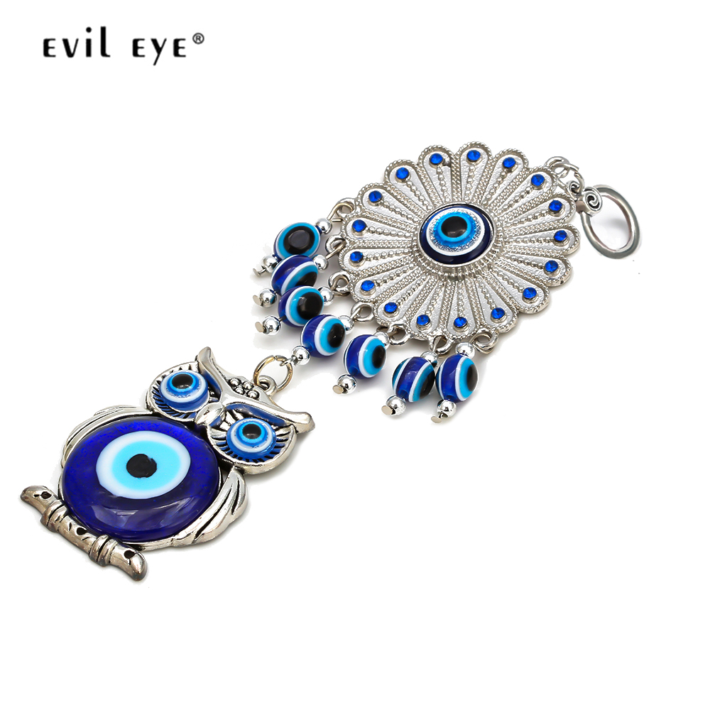 Evil Eye Mens Blue Glass Eyes Car Gift Key Chain