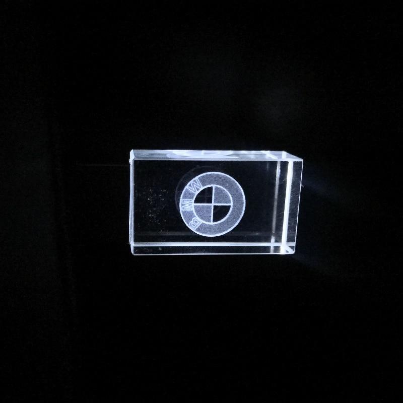 HOT BMW Car Sign Logos Crystal + Metal USB Flash Drive Pendrive 4GB 8GB 16GB 32GB 64GB 128GB External Storage Memory Stick