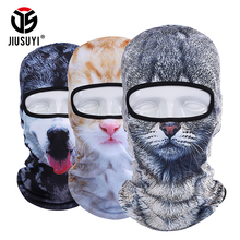 3D Bear Dog Cute Animal Balaclava Windproof Skullies Beanies Funny Helmet Liner Cool Winter Hat Warmer Full Face Cap Women Men