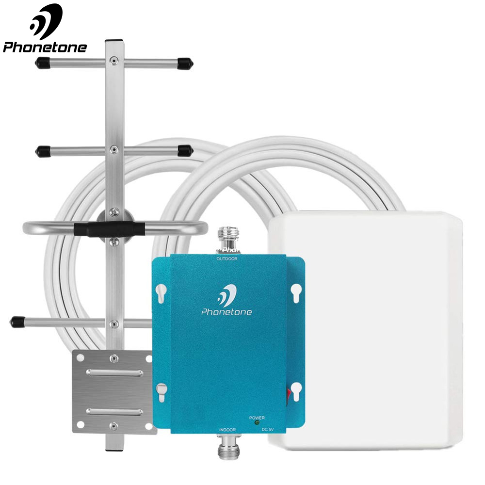 GSM 3G Cell Phone Signal Booster For Home & Office - 850MHz Band 5 Cellular Repeater & Directional Antennas Boost Voice, 3G Data
