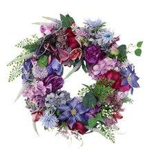 Wiosenne nowe produkty sprzedają się jak ciepłe bułeczki symulacja wieniec kwiatów fioletowy, drzwi działają w roli powieszenia zdobią 21 ins