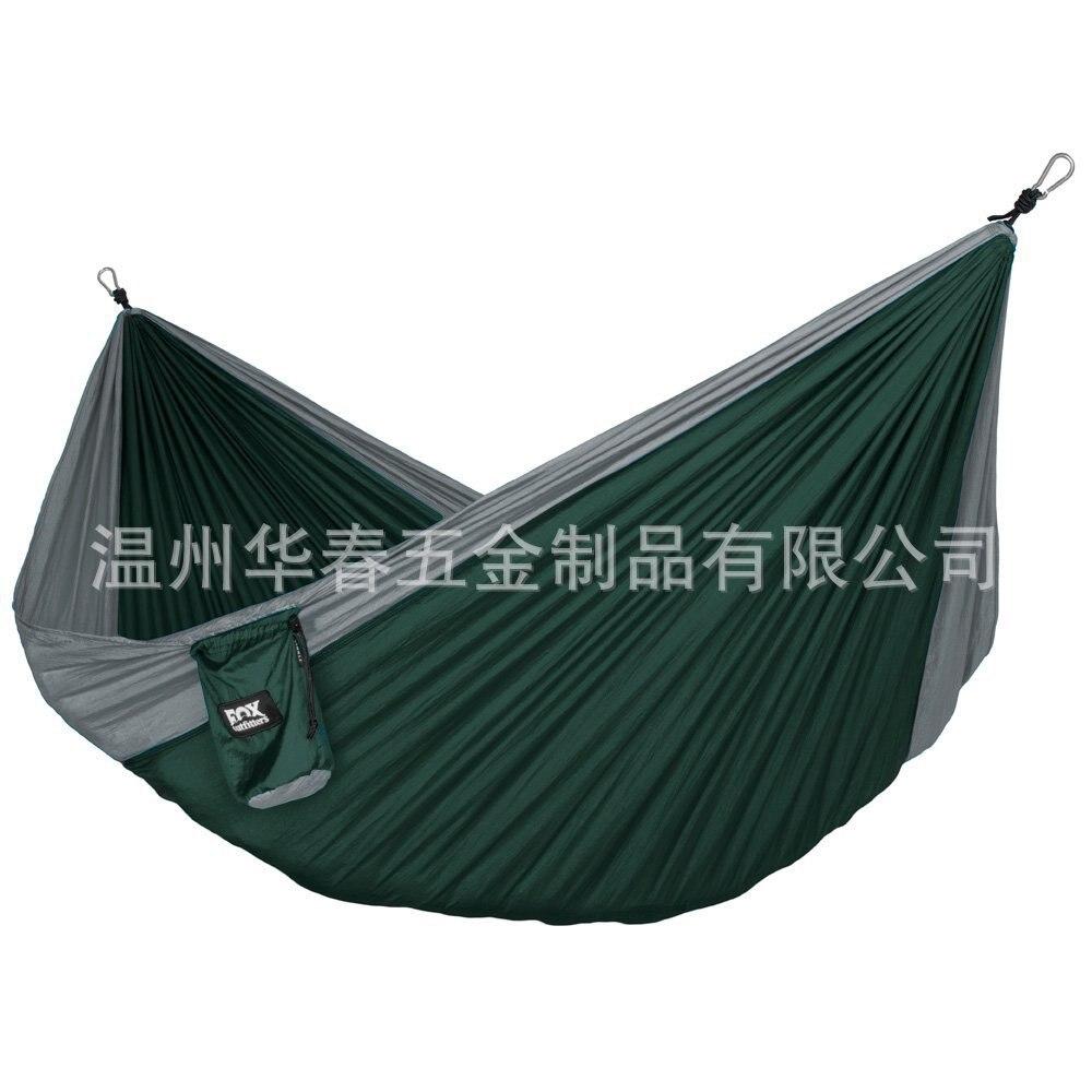 Outdoor Sports Double Nylon Hammock Parachute Cloth Swing Hammock Nylon Taffeta Casual