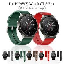 22mm skórzany pasek do zegarka Huawei GT 2 Pro opaska na rękę do bransoletki Huawei gt2 Pro wymienne akcesoria