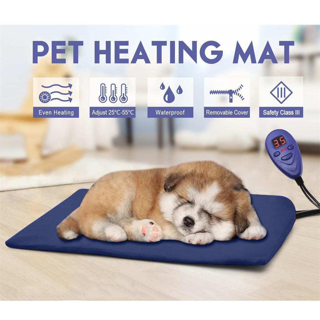 Pet Dog Cat Waterproof Electric Heating Pad Body Winter Warmer Mat Bed Blanket Animals Bed Heater Accessories Puppy 50 50cm Houses Kennels Pens Aliexpress