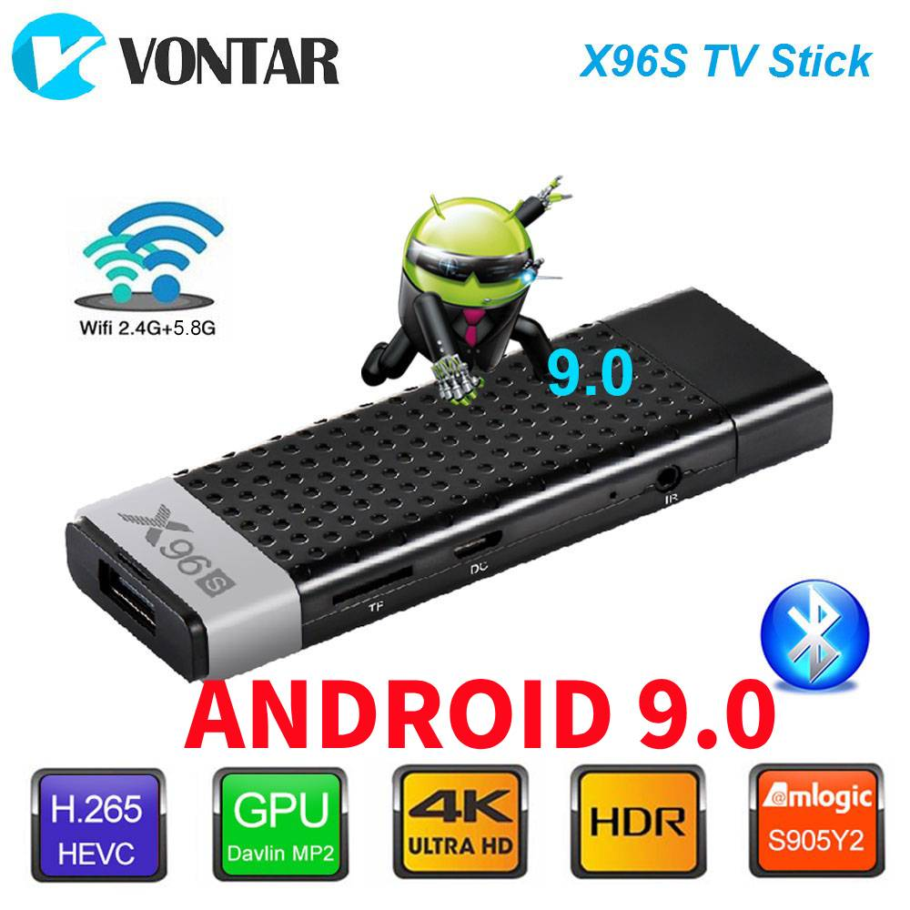 Vara esperta da tevê da caixa x96s de 4 k android 9.0 amlogic s905y2 ddr3 4 gb 32 gb x96 mini pc 5g wifi bluetooth 4.2 tv dongle media player