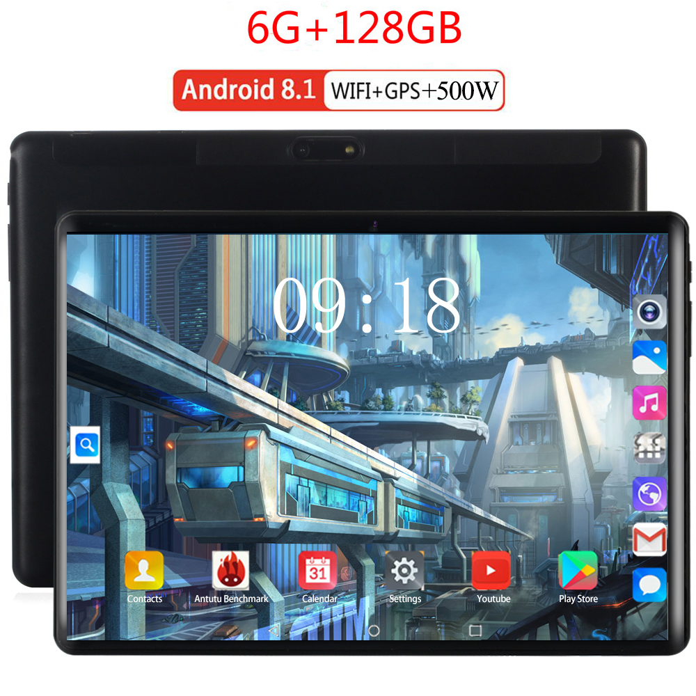 2020 Global Version Dual Sim Card 10.1 Inch Tablet Pc 4G LTE Android 8.0 Tablet Kids Gift With Google Store Metal Body Tablet 10
