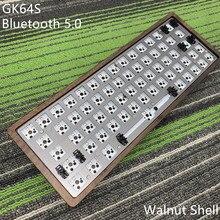 GK64 S ชุด de teclado GK64 GK64S Caja de madera CNC motherboard PCB CON สายบลูทูธ 2 vendidos